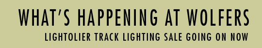 What's Happening At Wolfers. Lightolier Track Lighting Sale Going On Now