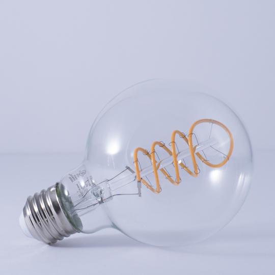 G25 Curly Filament LED Bulb