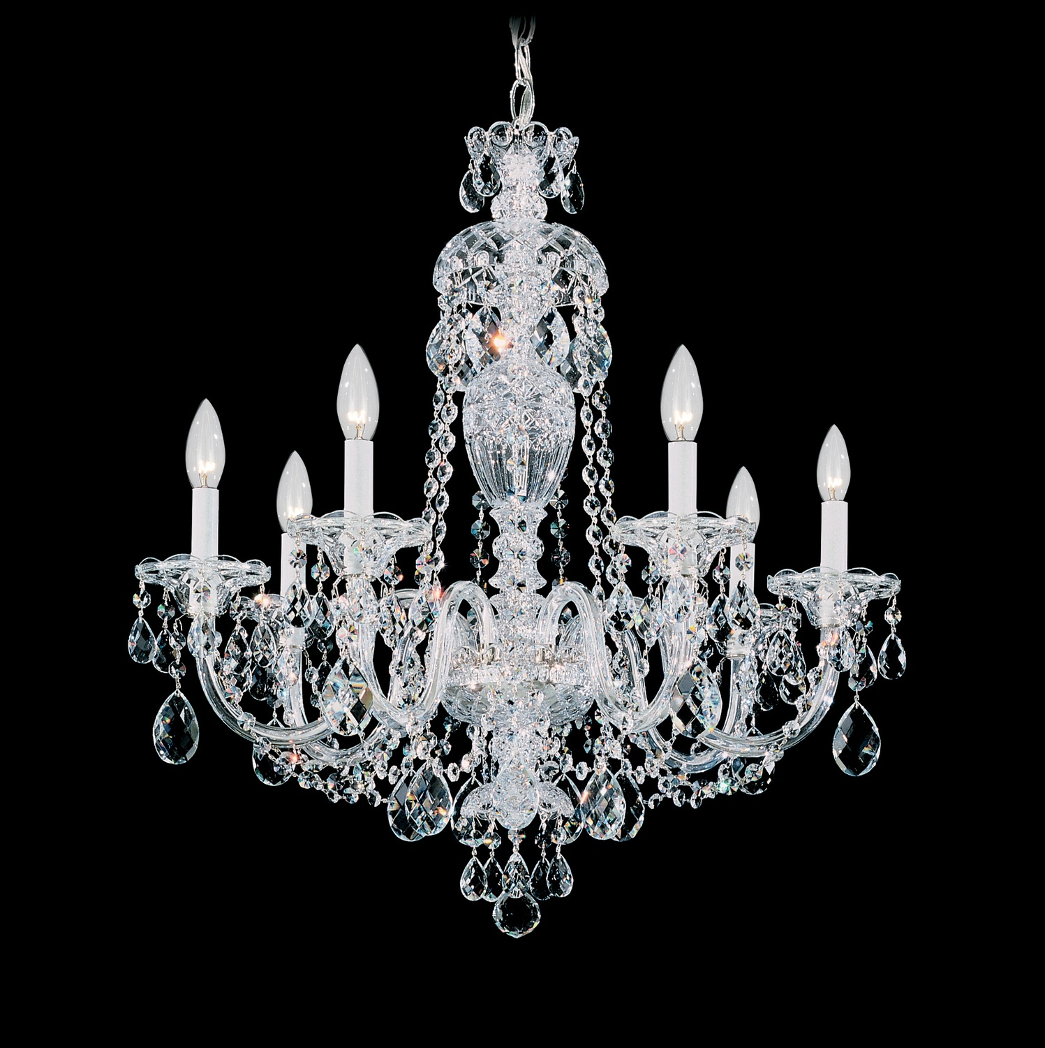 Schonbek Sterling Collection Seven-Light Chandelier