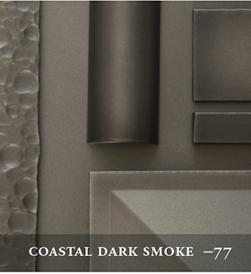 Hubbardton's Coastal Dark Smoke Finish