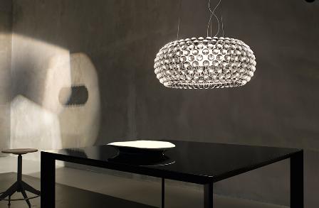 Foscarini's Caboche is a strikingly modern fixture.