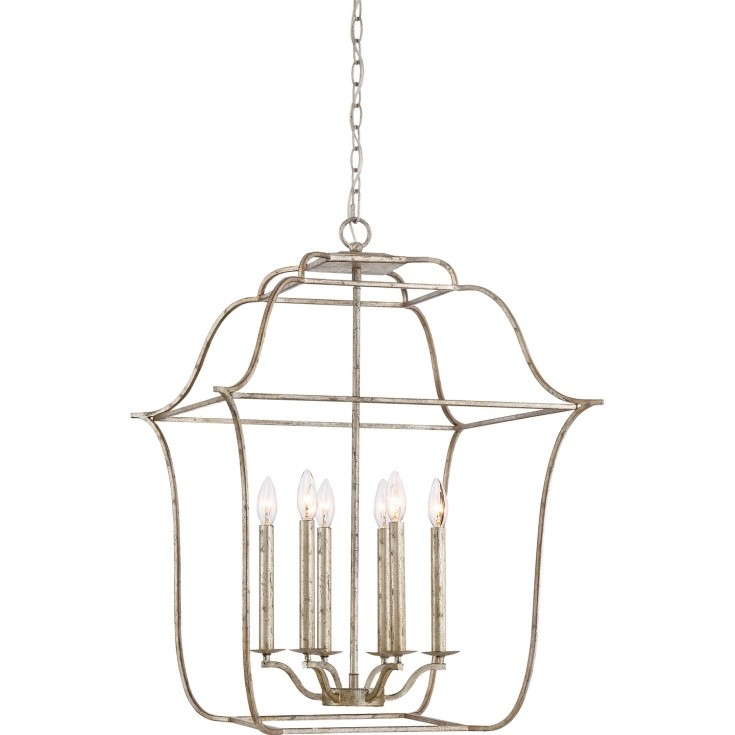 Quoizel Lighting's Gallery Pendant in Silver Leaf.
