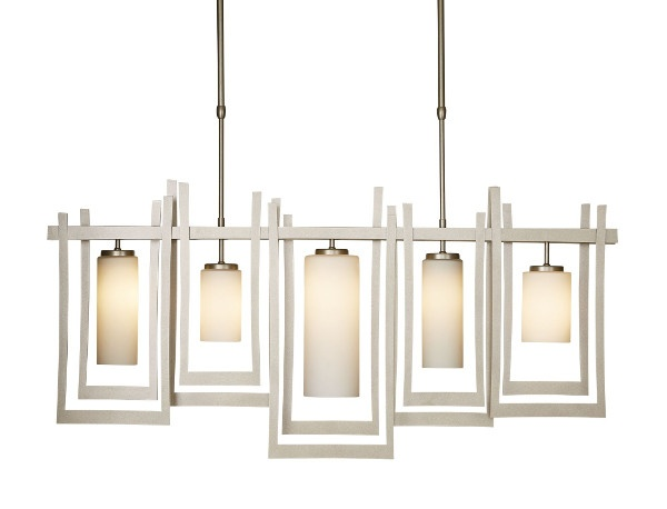 Hubbardton Forge's Chime chandelier is both contemporary with a traditional feel.