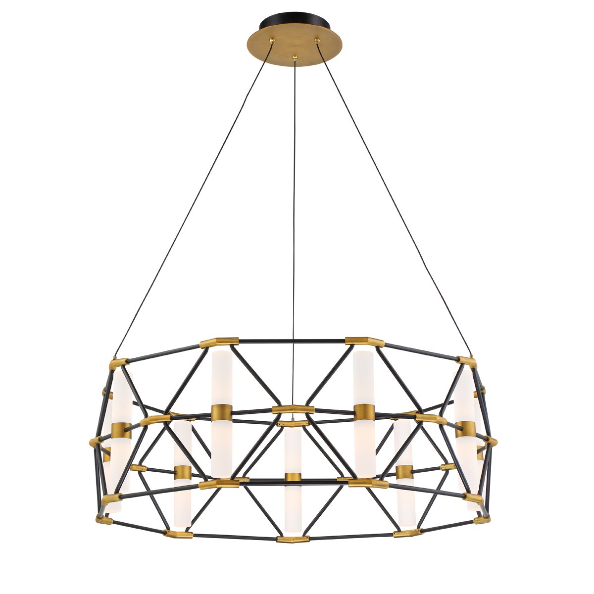 Modern Forms new Labyrinth chandelier in brass and gold