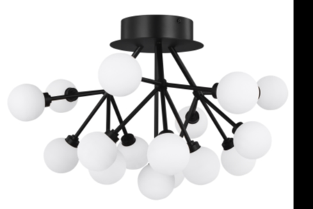 Tech Lightings New Semi Flush Looks Sleek and Elegant in Matte Black