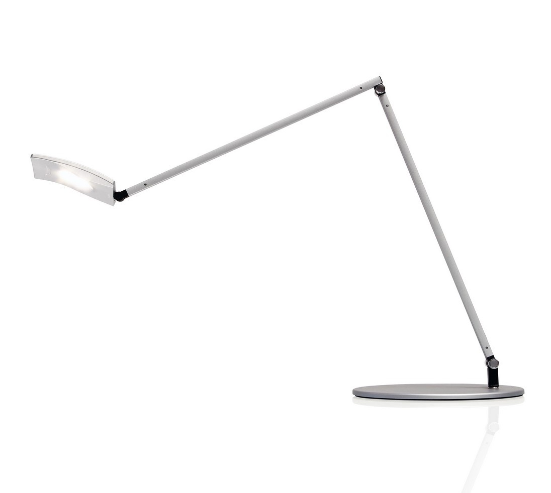 Koncept AR2001 Mosso Pro Desk Lamp in Silver with Tunable White LED Lamping and a USB Charging Port
