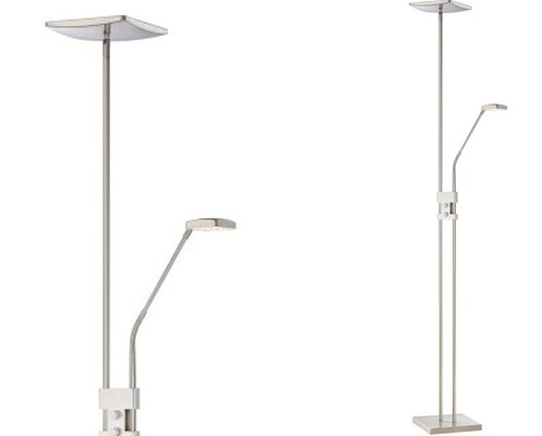 Quoizel's LED Floor lamp offers both uplight and a task light.