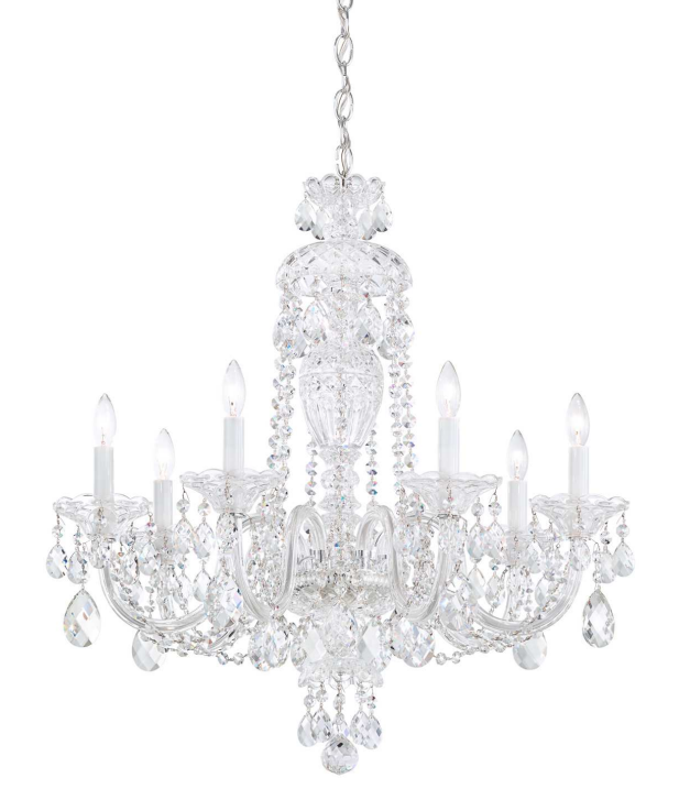Schonbek 2995 Sterling Chandelier with Heritage Crystal