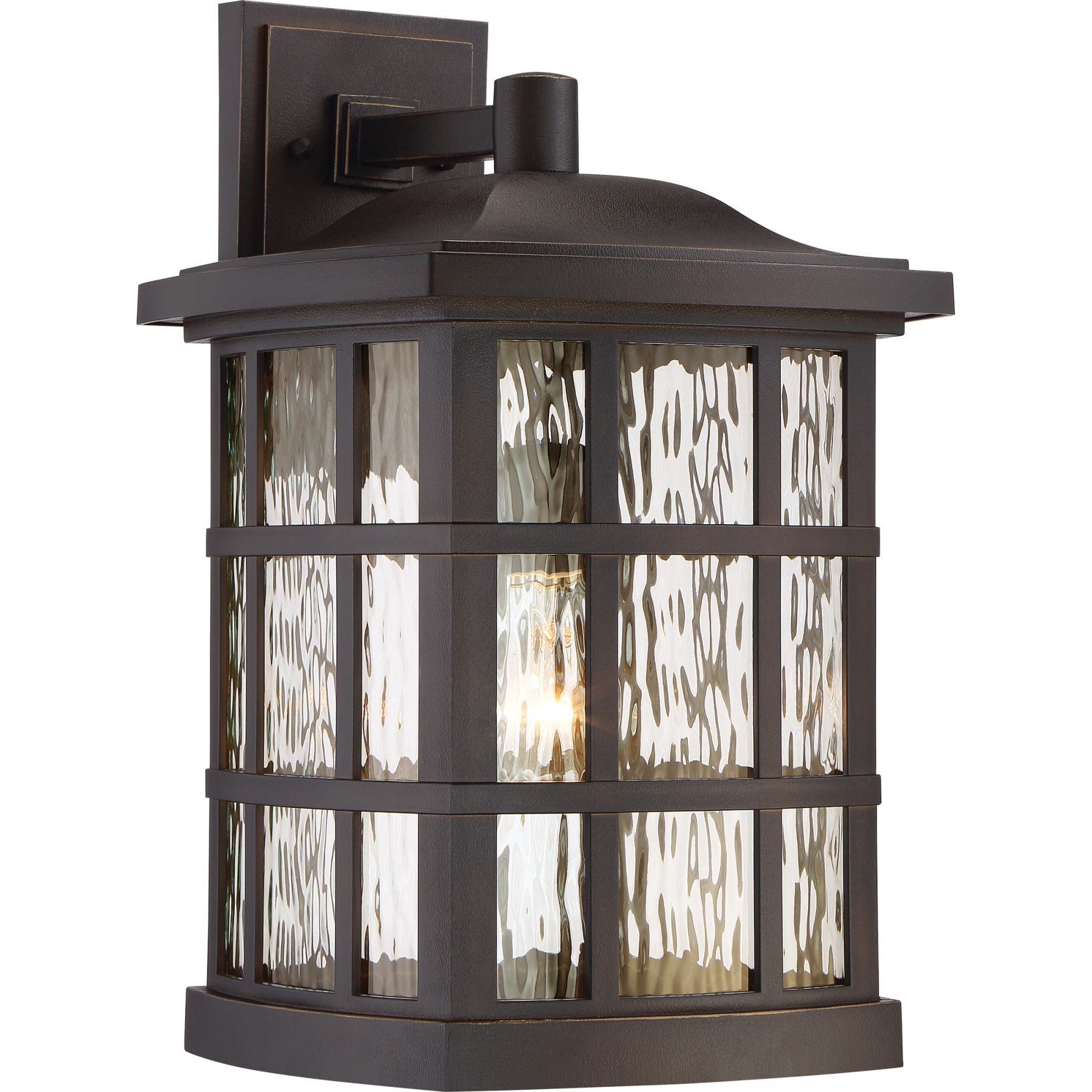 Quoizel SNN8411PN Stonington Outdoor Sconce in Palladian Bronze with Clear Water Glass