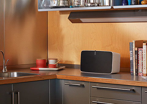 Sonos wireless speakers allow you to have high quality sound anywhere in your house.