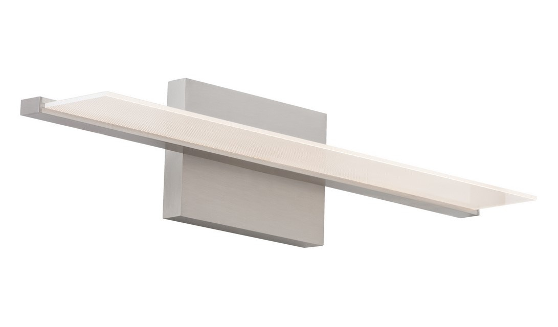 Tech Lighting 700BCSPAN Span LED Bath Sconce in Satin Nickel with LED Lamping