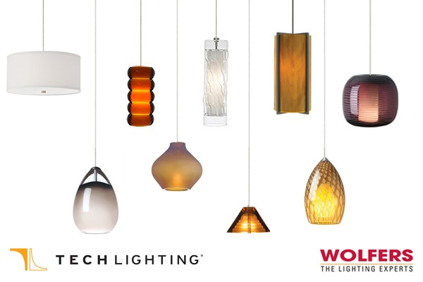 There are a plethhora of Tech Lighting Pendants on Display at Wolfers