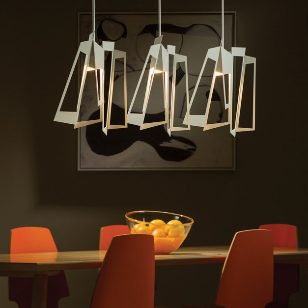 Hubbardton Forge's New Triptic Pendant in White