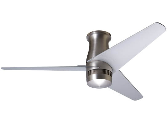Modern Fan Company's Velo Hugger is a stylish option for shorter ceilings.