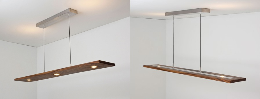 The Vix pendant by Cerno illuminates both up and down.