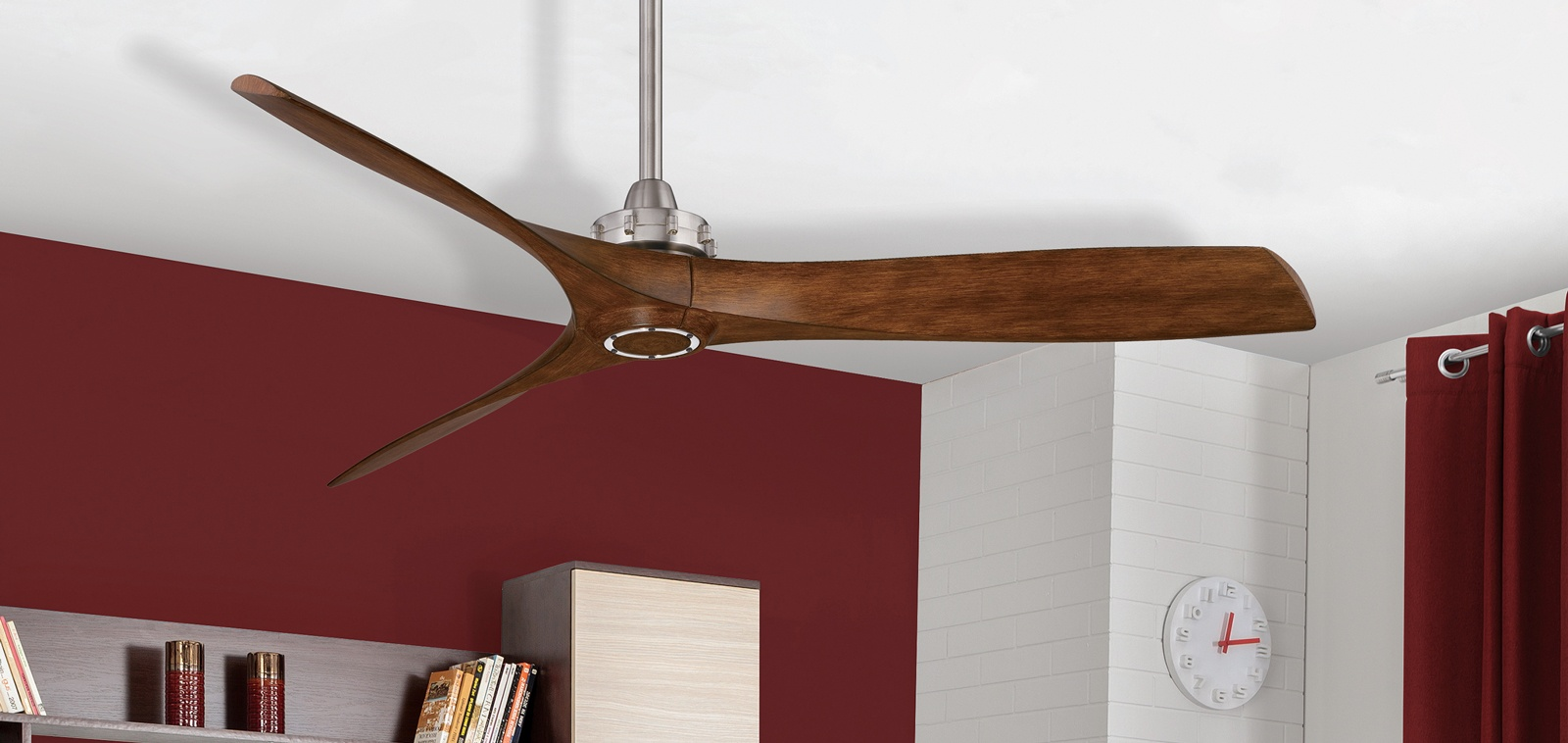 Ceiling fans are both aesthetically pleasing and an energy efficient for moving air.