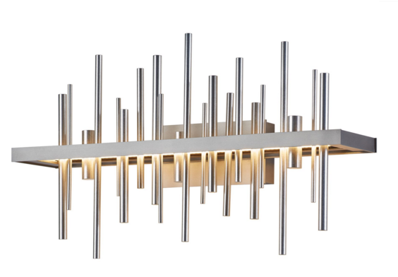 "Hubbardton Forge expands their ""Cityscape"" collection to include this great sconce."