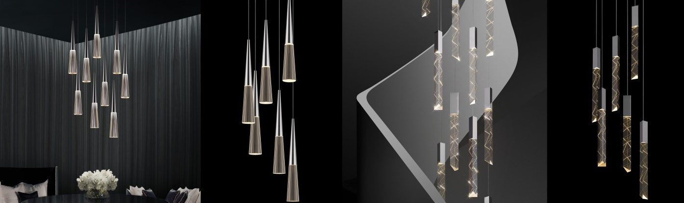 Sonneman's Spire and Trinity Collections