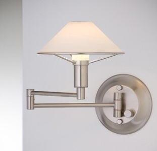 Holtkoetter's Swing Arm lamp makes a great reading light.